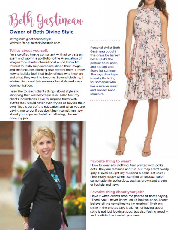 Beth Divine Indianapolis Personal Stylist feature in Kit Magazine