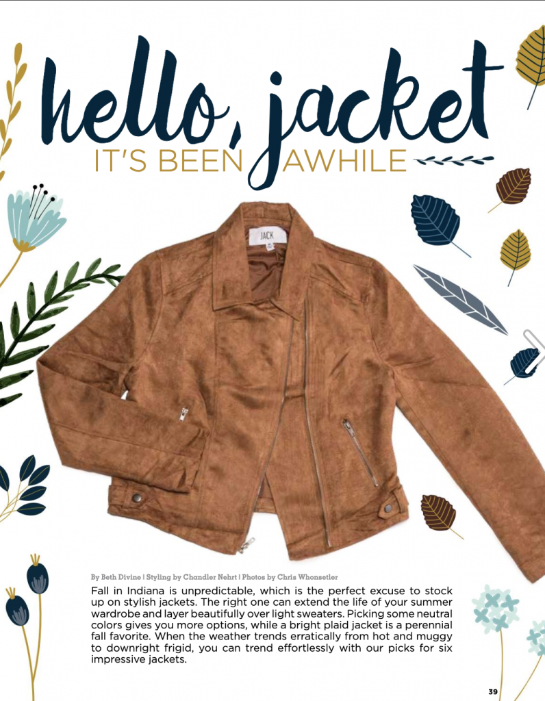 Beth Divine - Indianapolis Wardrobe Stylist - discusses how to style a jacket
