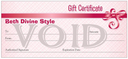 Personal Styling Gift Certificate From Beth Divine